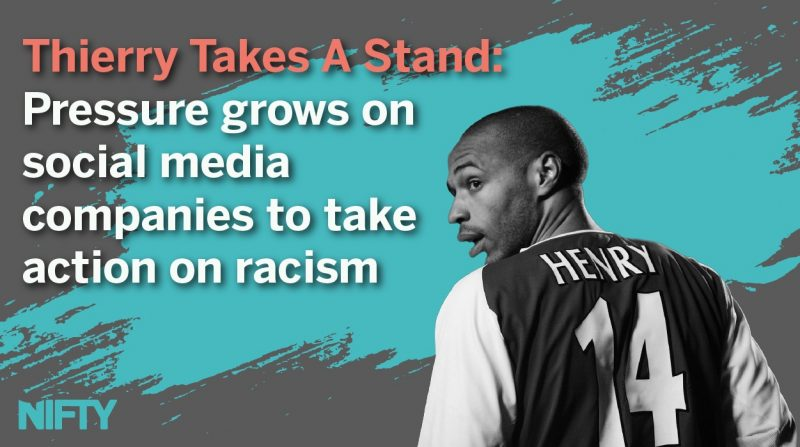 Thierry takes a stand: Pressure grows on social media companies to take action on racism